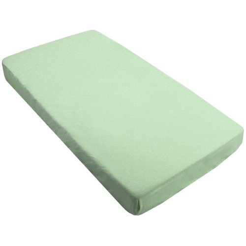 Kushies Fitted Bassinet Sheet, Green