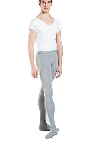 Wear Moi Mallas de Ballet con pie, Solo, Gris, Talla 10/12años