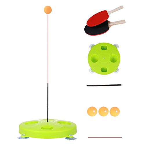 Best Buy! BDSONG Table Tennis Trainer with Elastic Soft Shaft, Leisure Decompression Sports, Set Table Tennis Trainer Indoor or Outdoor Play