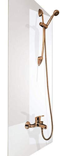 Wasserfeste Duschrückwand als Wandverkleidung 100 x 200 cm (BxL) - PVC Kunststoff Platte für die Dusche in verschiedenen Farben - Langlebige Verkleidung im Badezimmer - Duschplatte/Duschwand Weiß
