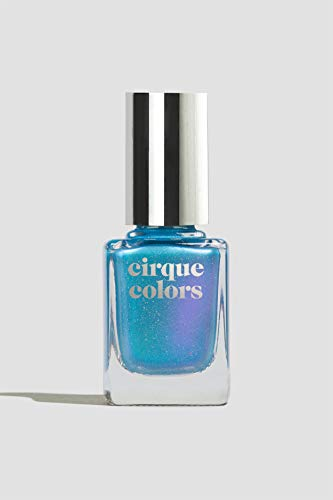 Cirque Colors Moon Water - Aqua Blue to Violet Duochrome Nail Polish - Limited Edition The Craft: Legacy Collection - 0.37 Fl Oz (11 mL) - Vegan & Cruelty-Free