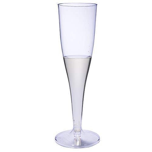 50 copas de champán desechables de plástico