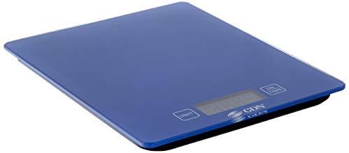 CDN ProAccurate Digital Glass Kitchen Scale, 11 lb, Blue