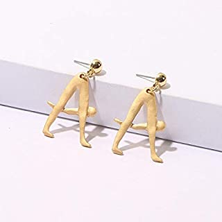 MONGHHF Earrings Fashion Statement Metal Letter Earrings For Women Girls Simple Vintage Dangle Stud Earrings Jewelry