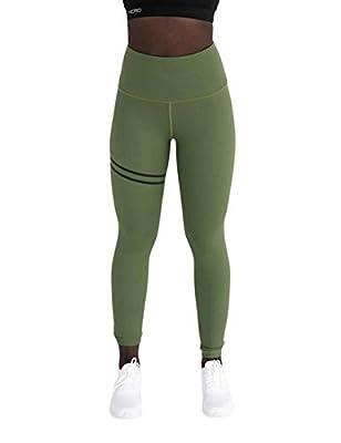 Nessere Women Casual Solid Slim Full Length High Waist Leggings Yoga Pants Pants