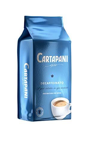 Cartapani 1951   Decaffeinato gourmet macinato   Caffè cremoso e vellutato   per moka   250g