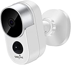 Security Camera Outdoor, SHELIVE Wireless Home Security Camera System with Rechargeable Battery, 1080P HD, Waterproof, Night Vision, Motion Detection, 2-Way Audio