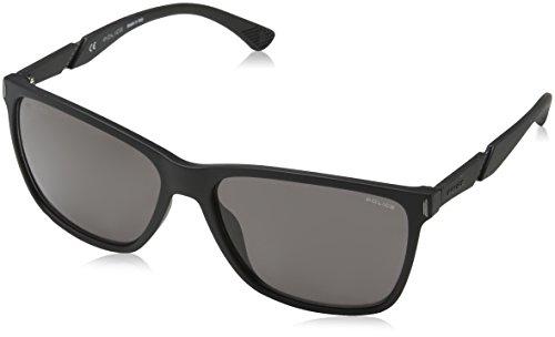 Police Herren Speed 10 Sonnenbrille, Schwarz (Rubberizzed Black), 44