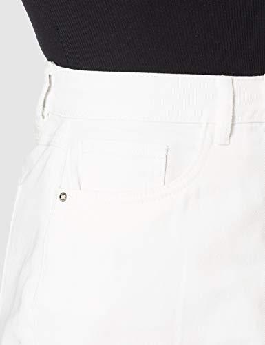 Vero Moda VMHARPER HR M Skater DNM Skirt Noos Falda, Blanco Nieve, S para Mujer