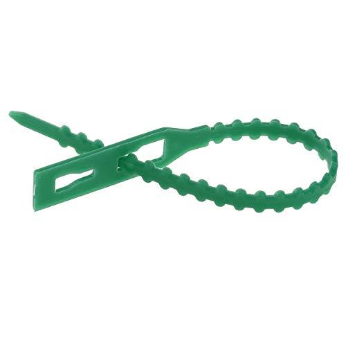 Freebily Pflanzenbinder Einstellbar 100/50 Stück Pflanzen Anbinder Schnellbinder Pflanze Kabelbinder Krawatte für Pflanzen Unterstützung Grün 100Pcs 13cm