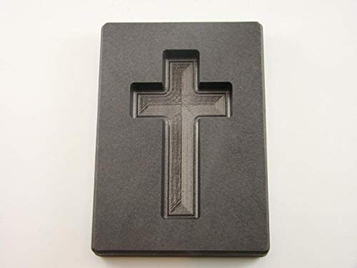 5 oz Gold Custom Cross High Density Graphite Mold 3 oz Silver Necklace 2 3 4 product image