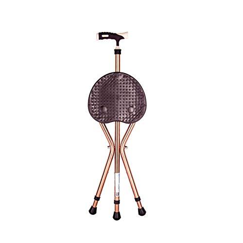 Y-L wandelstok verstelbaar met zitting met ergonomisch handvat en massagebank wandelstokken