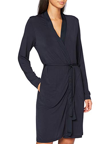 Marc O'Polo Body & Beach Mix W-Robe Bata, negro azulado, M para Mujer