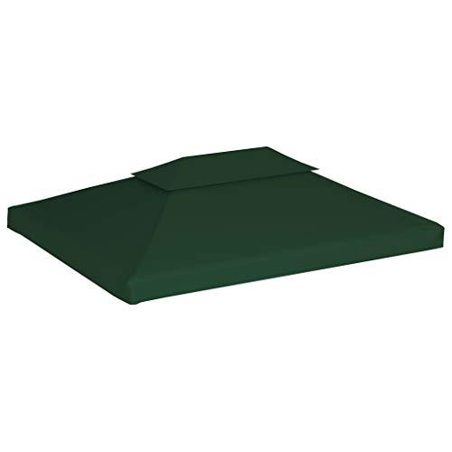 Tidyard Vervangend Feesttent Tentdoek Prieel Outdoor-Evenementen 310 g/m² 3x4 m Groen