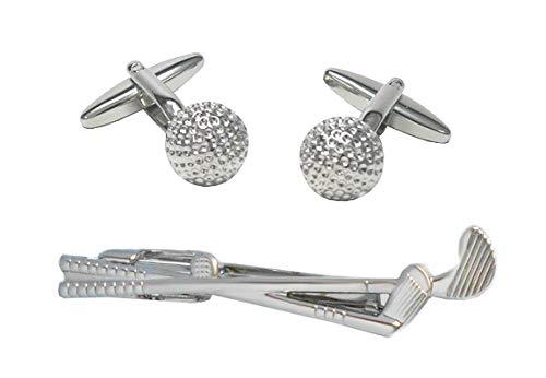 Unbekannt Golf Set Manschettenknöpfe + Krawattenklammer Golfschläger + Ball + Geschenkboxen