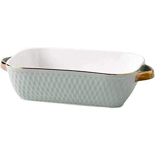 Bandeja de Fuente para Horno Cerámica rectangular Esmalte para hornear pan para hornear plato martillado para cocinar la cocina de la cocina para la cena del banquete y el uso diario