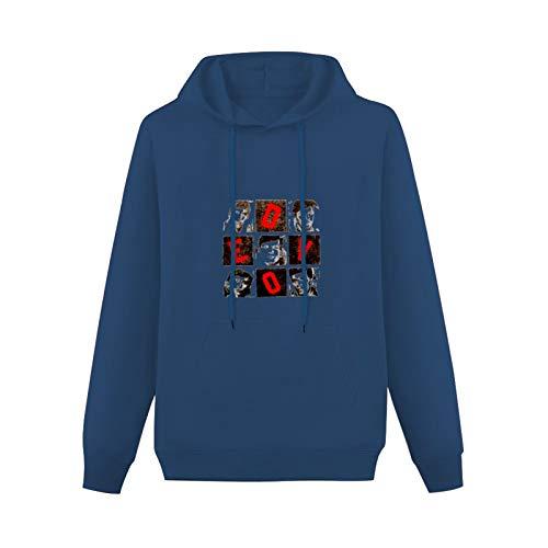 LongSleeveHoodedSweatshirt Devo Hollywood Squares Cotton Blend HoodyNavyS