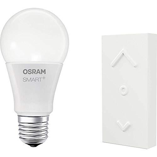 OSRAM Smart+ Kit Télécommande Mini Switch + Ampoule LED Connectée   Culot E27   Forme Standard   Dimmable   Blanc Chaud 2700K   8,5W (= 60W)   Zigbee - Compatible avec Amazon Echo Plus et Show (2G)