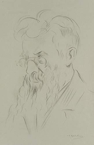 H. W. Fichter Kunsthandel: V.d. Speck OBREEN (1888), Männerporträt mit Brille, Anfang 20. Jd, Bleistift
