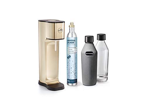 mySodapop Wassersprudler Joy Prestige Champagne inklusive 2 Glasflaschen und 1 CO2-Zylinder für 60L Sprudelwasser Soda Wasseraufbereiter Trinkwassersprudler