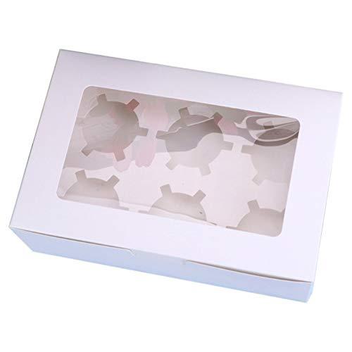 Cupcake-Box, 10 Stück, 2/4/6 Löcher, Muffin-Box, Cupcake-Behälter, durchsichtiges Fenster, Partyboxen für Hochzeitsfeier
