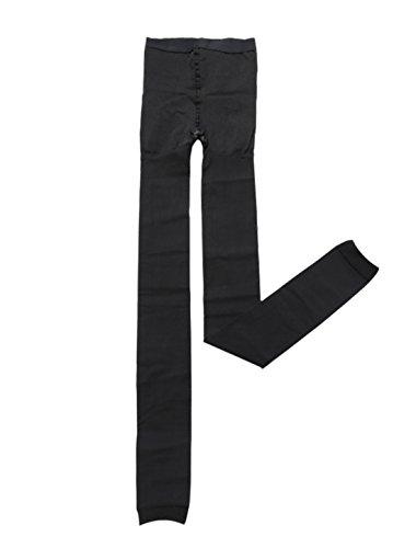 Sourcingmap Damen Kompression Formung Erhöhen Abnehmen elastisch Strumpfhose Leggings Schwarz-Thick Ankle Leggings XS