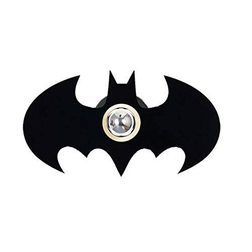 AGWa Applique murale E27 Applique Créative Batman Ombre Placage Applique Murale En Métal Applique Murale Acrylique Support Lumière pour Chambre Salon Applique Murale,Noir