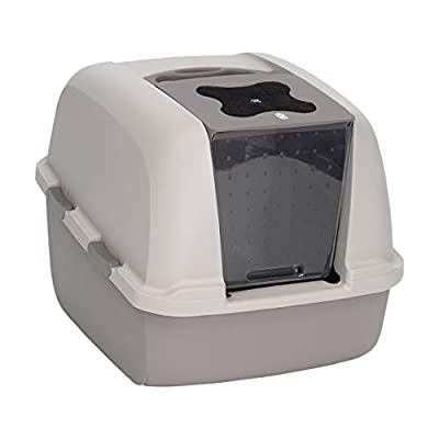 Catit Jumbo Hooded Cat Pan/ Litter Tray / Litter Box, 57 x 46 x 43cm