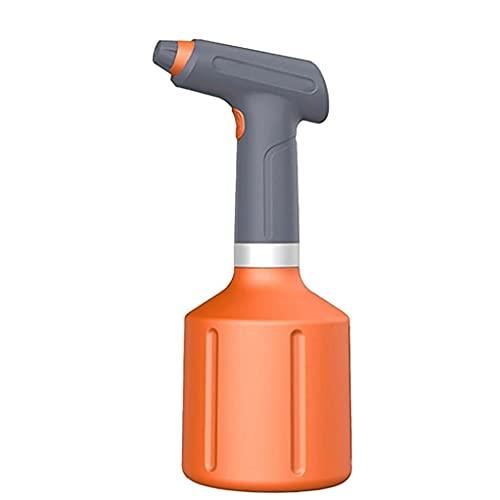 Regadera eléctrica DealMux, rociador automático de jardín, botella rociadora recargable USB para el hogar, para regar herramientas de jardín naranjas