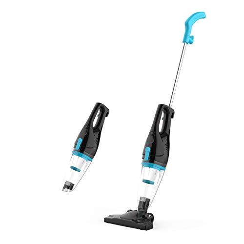 TC-JUNESUN Corded Upright Vacuum Stick Cleaner Lightweight Bagless for Home Hard Floor pet Hair(Grey-Blue)
