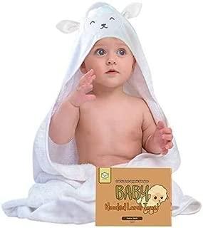 KeaBabies Baby Hooded Towel - Organic Bamboo Baby Bath Towels With Hood For Boys, Girls, Babies, Newborn Boys, Toddler (Lamb)