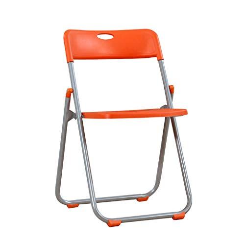 LiRuiPengBJ Sillas Plegables Silla Plegable de Plástico Resistente, Marco de Metal Fuerte Silla de Escritorio Que Ahorra Espacio para Interior y Exterior Naranja Folding Chairs (Size : 4pack)