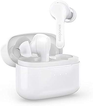 Soundcore Anker Auricolari True-Wireless Liberty Air con Custodia di Ricarica, Bluetooth 5, Fino a 20 Ore di Riproduzione, Controlli Touch Earbuds, Audio potenziato al Grafene e Tenuta Sicura