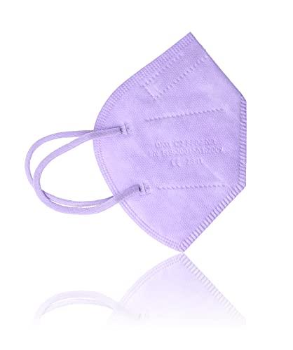 AKA FFP2 Atemschutzmasken 10 Stück einzeln verpackt CE-zertifiziert (lila)