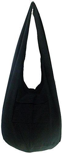 """Carefree and comfortable 100% cotton Suitable for men & women Smaller version of our classic cross-body bag or use like a shoulder bag Size: Width 18"""" Length: 13"""" Depth: 13"""" Drop: 20"""" shoulder strap (40"""" end to end) Shipping service by Thailandpost r..."""