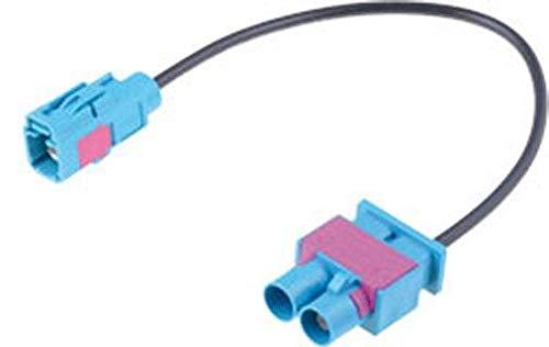 Adaptateur antenne 2x Fakra M vers 1x Fakra F compatible avec Audi Ap08
