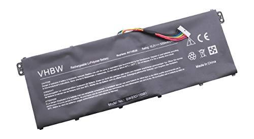 vhbw Li-Ion Akku 3200mAh (15.2V) für Laptop, Notebook wie Acer AC14B3K