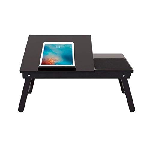 YLCJ houten notitieboekje, kantoortafel, opklapbare slaapbank, hoogte en hoek verstelbaar en opklapbaar (zwart)