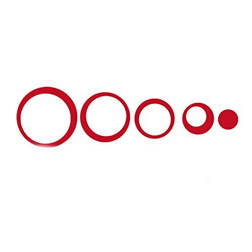 Sticker Mural,DIY Cercle Rouge Acrylique Stickers Muraux Adapté Pour Tv Fond Chambre Salon Salle De Bain Bricolage Décoration De La Maison