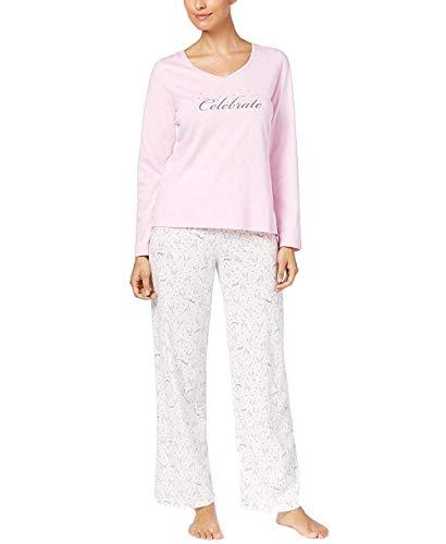 Charter Club Women's Pajama Set Champagne Bubbly,Pink,Medium