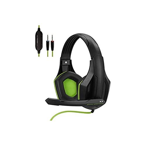 WGLL Auriculares de Juego con 3.5mm para PS4 / 5 Xbox One con Sonido Envolvente estéreo, Auriculares con micrófono de cancelación de Ruido, Redondeo de bajo, Orejeras de Memoria Suave