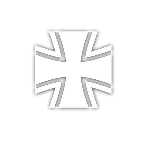 Bundeswehr Kreuz Weiss Logo Abzeichen BW Bund Aufkleber Folie 5x5cm #A5479