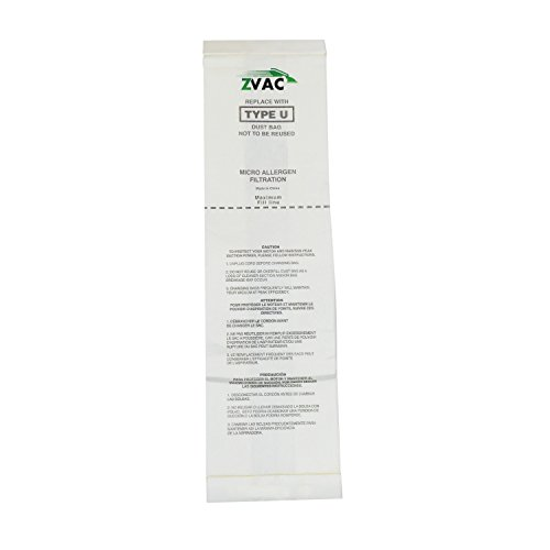 Zvac Replacement Eureka Vacuum Bags Compatible with Eureka Part # 54310A, 54310B, 54310C Fits Ureka Style U Bravo and Powerline Uprights - 15 Pack in A Bag