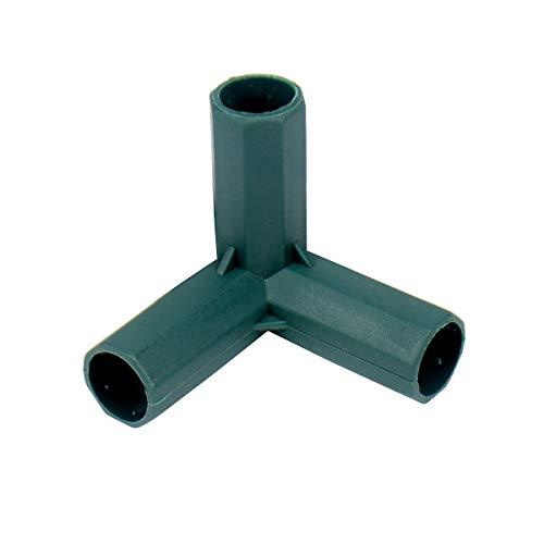 10 x 3-Wege-Verbindungsstücke für Gewächshausrahmen, 16 mm, PVC-Befestigung, robuste Verbinder