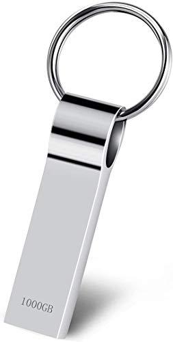 Kauriea USB Stick 1TB 3.0 Speicherstick 1TB USB-Stick Wasserdichtes Memory Stick USB-Flash-Laufwerk mit Schlüsselring für PC Computer Wasserdichtes
