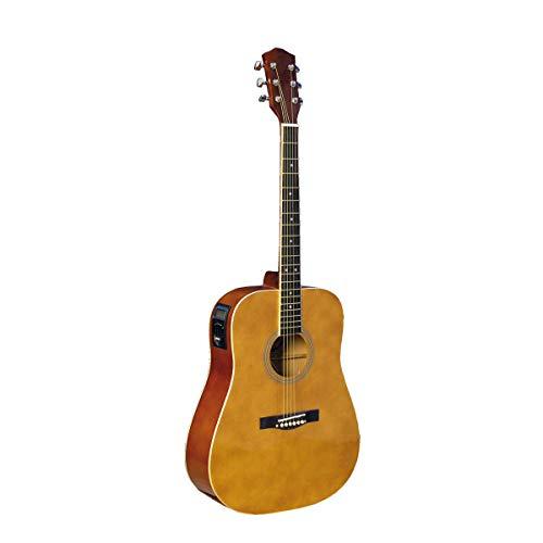 guitarra acústica electrificada con Tuner Integrado Gold Yellow