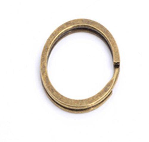 Cooplay 20 Brons Zilver Toon Platte Sleutelhanger Ring 24mm 1