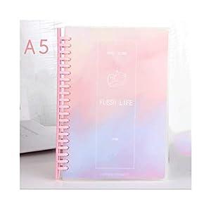 HJHJ Cuadernos Cuadros Horizontal Notebook/Diario de Hojas Sueltas, de 80 Hojas, Premium Papel Grueso Diario, Dos especificaciones están Disponibles A5 / B5 blocs de Notas