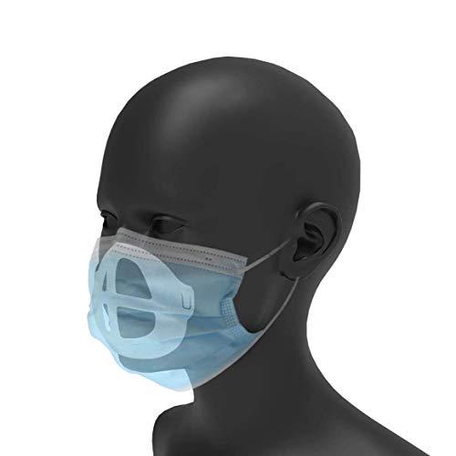 BENKAI 3 x original 3D Masken-Halter Schutzrahmen aus Silikon schont Lippenstift, bessere Atmung f....