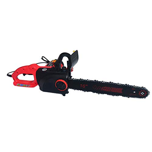TELAM Motosierra eléctrica Potente sierra eléctrica con tijeras de podar de mano portátiles de 16 pulgadas (40 cm) de longitud para cortar ramas de árboles y jardín y 2 cadenas